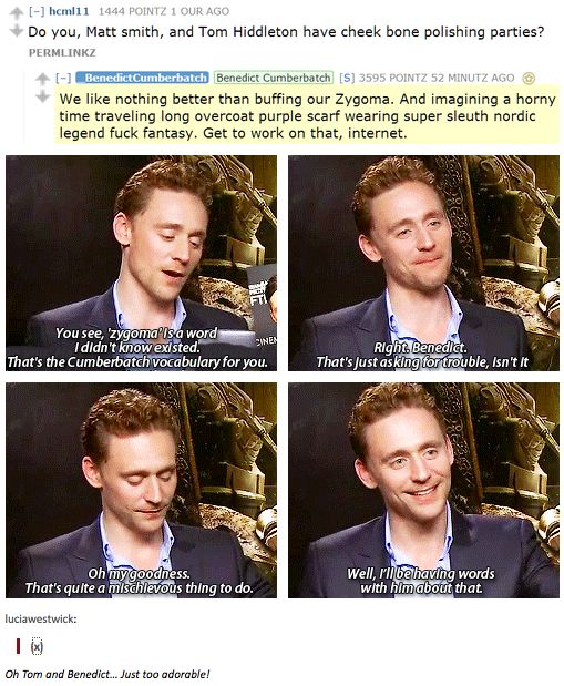 Tom's response to Benedict's reddit Q & A. I love that these two are friends. Original post has a link to the interview!