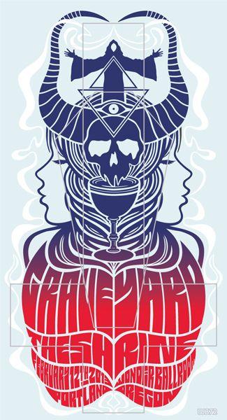 Graveyard concert poster, by Weird Beard 72