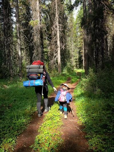 Mother and Daughter Hiking Trails in the Summer