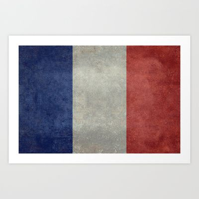 National Flag of France - Vintage Version Art Print by LonestarDesigns2020 - Flags Designs + - $15.00