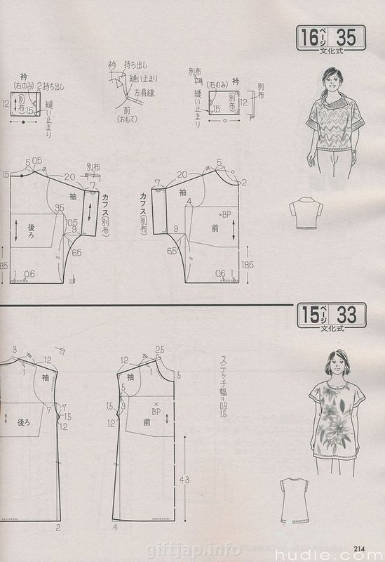 Not all japanese, but similar principle, pattern diagrams from Lady boutique & Cotton Time, amoungst others...