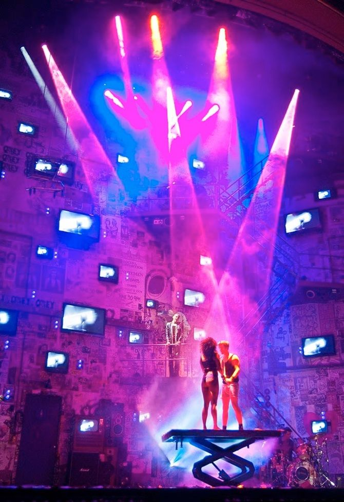 American Idiot, original Broadway cast. Lighting by Kevin Adams, set by Christine Jones, directed by Michael Mayer.