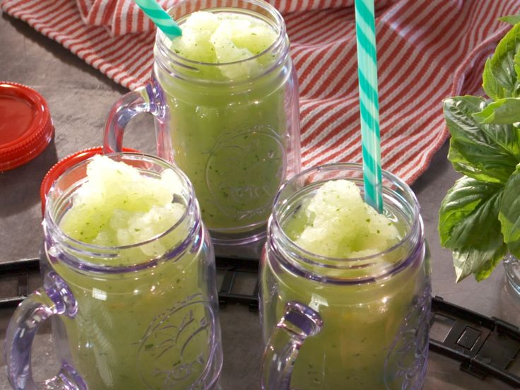 Frozen Basil Lemonade recipe from Nancy Fuller via Food Network