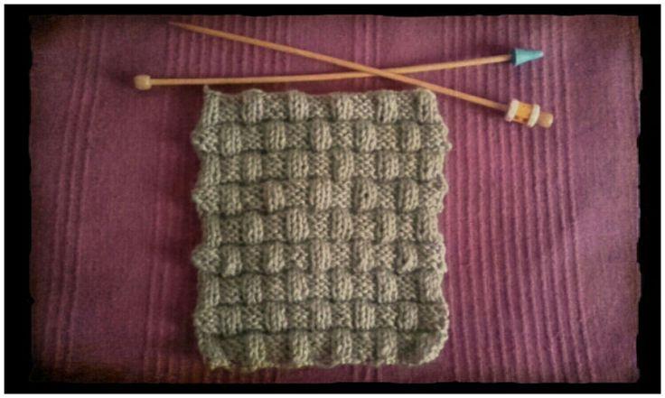 Cuadrado punto cesta ancho // Basket weave stich