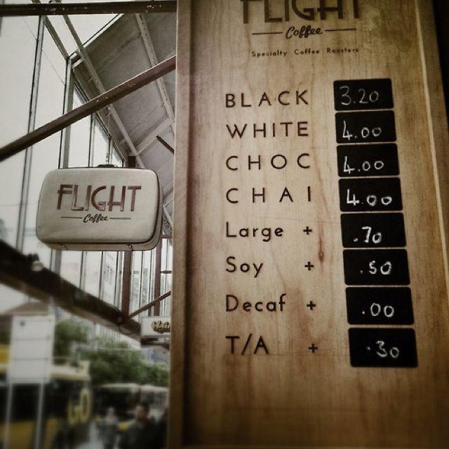 good coffee price board