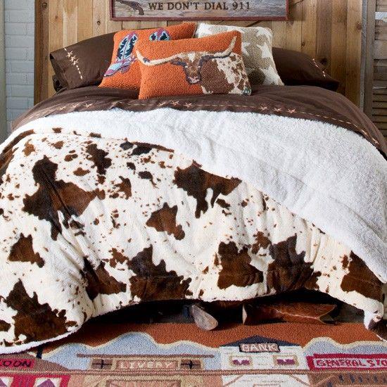 Ultra-Plush Fleece Cowprint Blanket