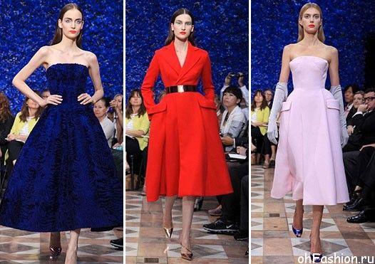 Девушки в платьях от Диор в стиле Нью Лук