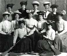 the First Ladies Curling Club in 1906  St. John's, Newfoundland......