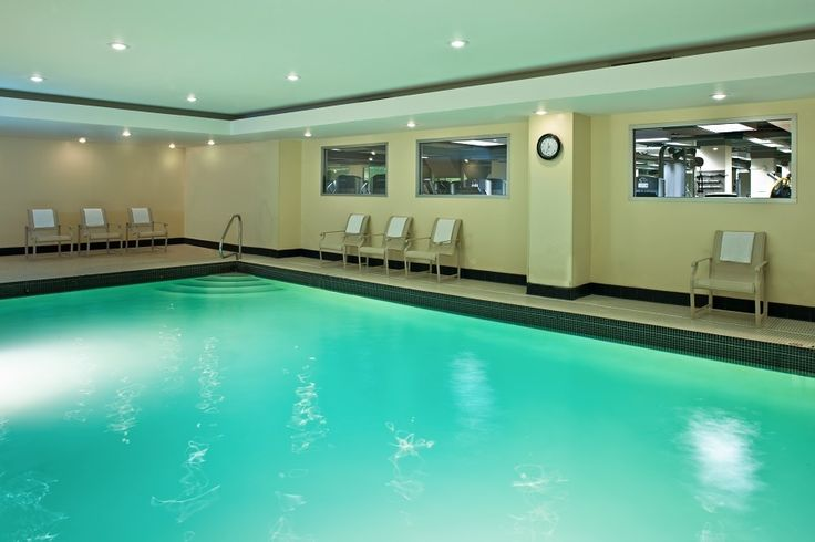 The pool at Grand Hyatt Washington offers a quiet place after a busy day.