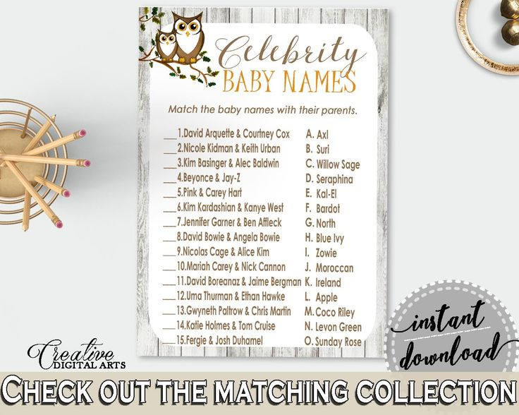 Celebrity Baby Names Baby Shower Celebrity Baby Names Owl Baby Shower Celebrity Baby Names Baby Shower Owl Celebrity Baby Names Gray 9PUAC - Digital Product #babyshowergames #babyshowerdecorations