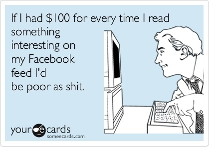 The truth. It hurts.: F Books, Facebook Feeding, Facebook Accounting