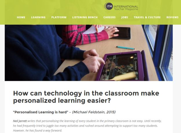Have a look at these simple and effective ways to personalise learning using tech in lessons!  #Transformthewayyouteach  🔡🔢🆓💡  https://edtech4beginners.com/2016/09/09/my-article-for-the-international-teacher-magazine-how-can-technology-in-the-classroom-make-personalized-learning-easier/