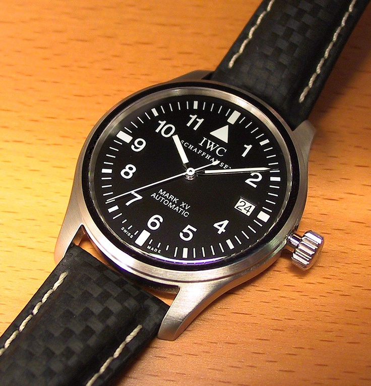 IWC Mark XII automatic from the 80's.  love he simplicity and readability.  I owned one of these but the case was fat and heavy in real life. The earlier Mark X has a smaller diameter.