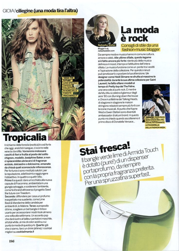 @armidatouch on Gioia magazine this week!  #gioia #magazine #bracelet #perfume  shop your special one at www.armidatouch.com