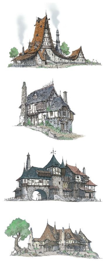 The Middle Ages - Houses A by HeNN , Don't need to have a home this big, but love this style for our future cottage!
