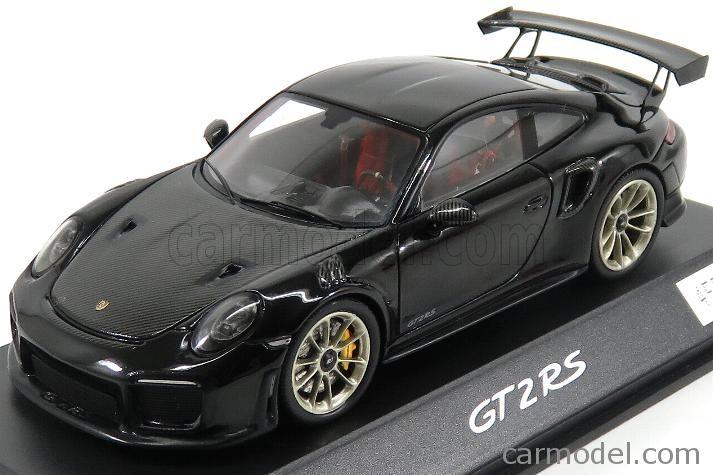 SPARK-MODEL WAX02020066 Scale 1/43  PORSCHE 911 991-2 GT2 RS COUPE 2017 BLACK MET