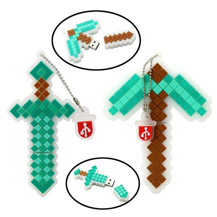 Minecraft Treasured Sword 4GB 8GB 16GB 32GB 64GB USB flash memory Stick - free shipping worldwide