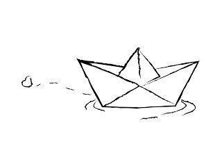 Papierboot mit einem ♡  #einem #papierboot #buddy