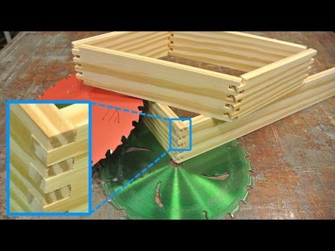 How To Make Box Joints Without A Dado Set - http://www.gottagodoityourself.com/how-to-make-box-joints-without-a-dado-set/