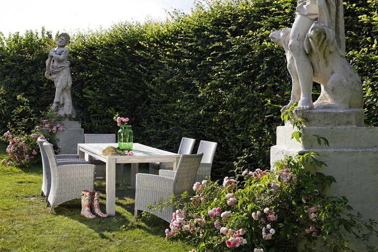 Garten-Sitzgruppe DIAMOND GARDEN Oslo Rennes Teakholz Polyrattan-Geflecht Set