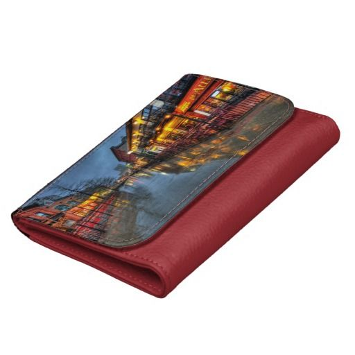 Street Reflections Leather Wallet For Women