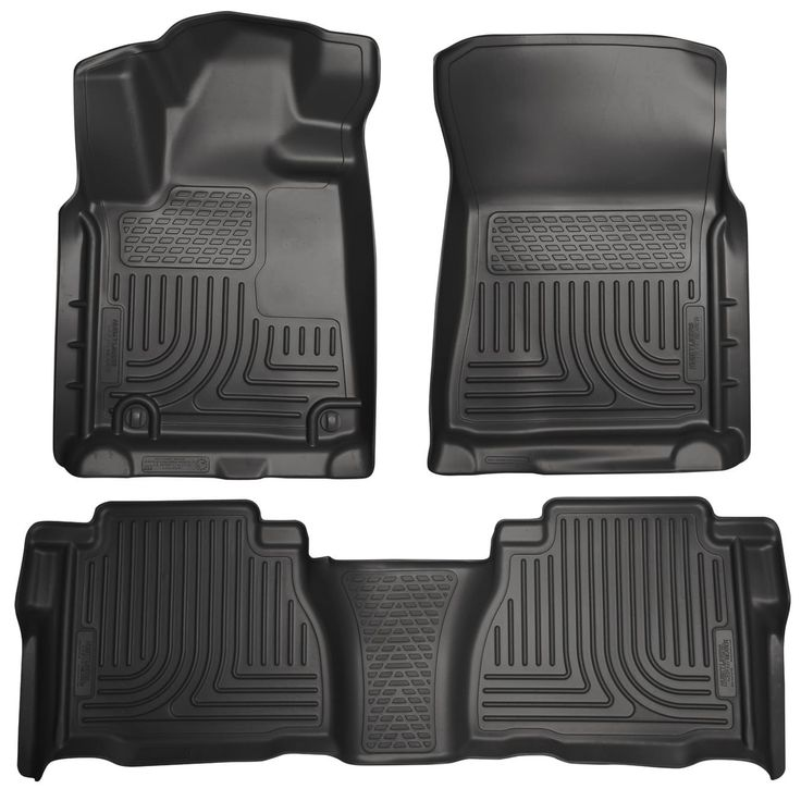 Husky Weatherbeater 2010-2011 Toyota Tundra DoubleCab/CrewMax Black Front & Rear Floor Mats/Liners
