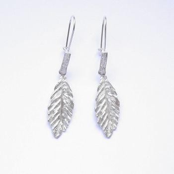 Kolczyki srebrne - L16 białe - Sklep internetowy z biżuterią srebrną