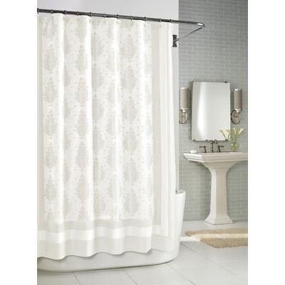 kassatex roma shower curtain in white