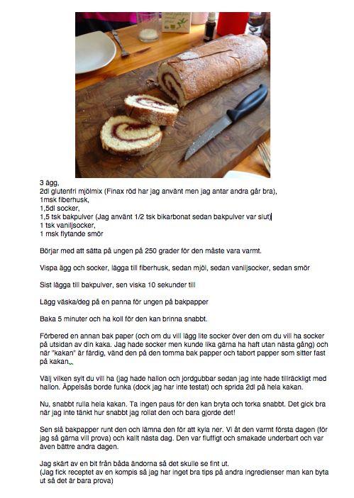 Swiss roll recipe - very easy to do