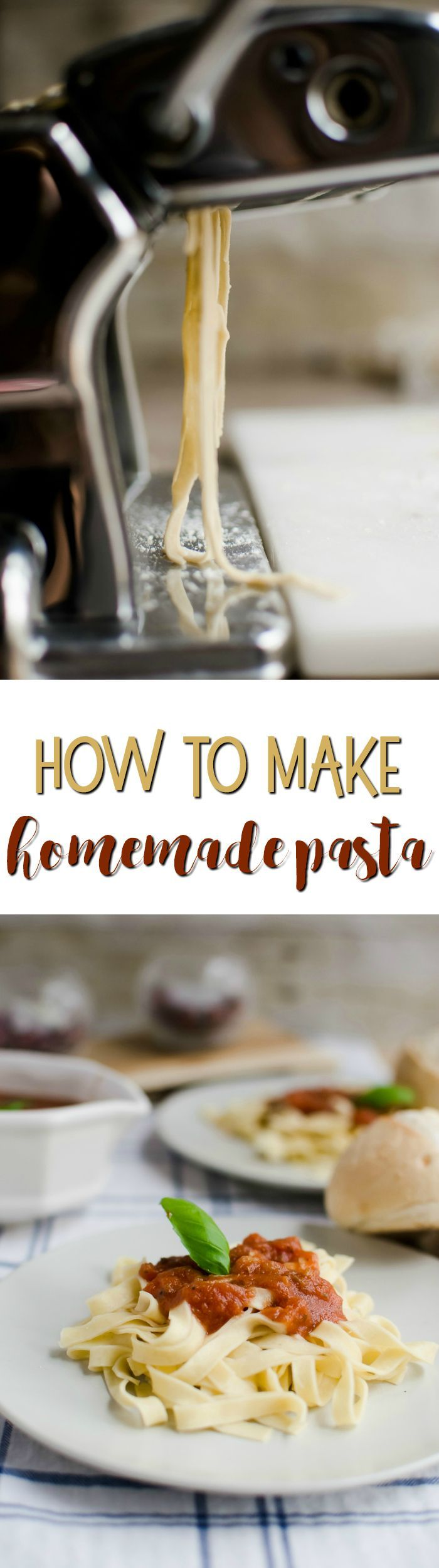how to make pasta from scratch by hand