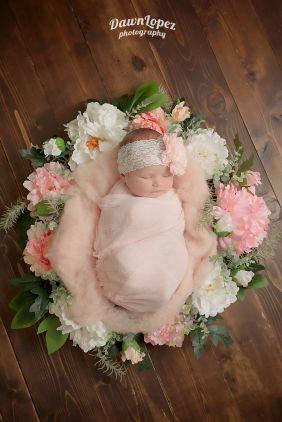 floral wreath Photo from Dawn Lopez newborn girl photography collection by Dawn Lopez Photography www.dawnlopezphotography.com