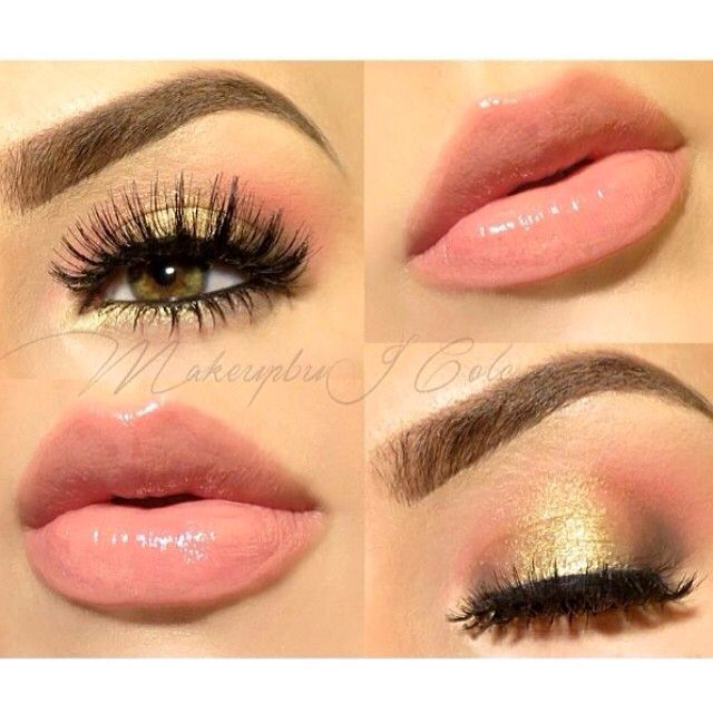 Golden can spice up your eyes while peach can show a more feminine vibe to a whole look.
