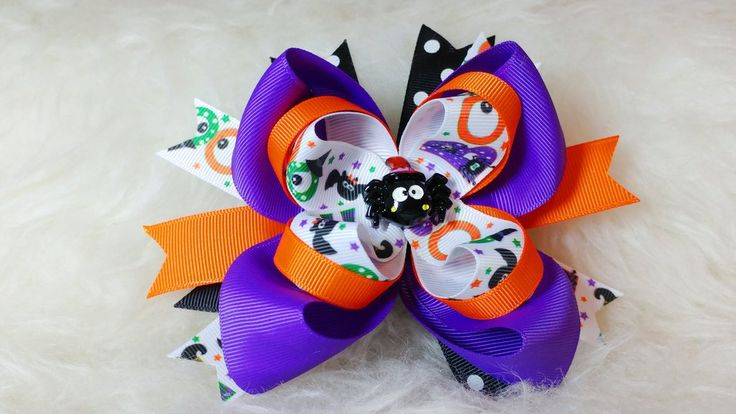 Boutique Stacked Hair Bow - Halloween – HairBowStop