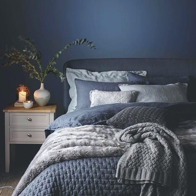 Navy Grey Bedroom | Bedroom-kidos in 2019 | Bedroom decor ...