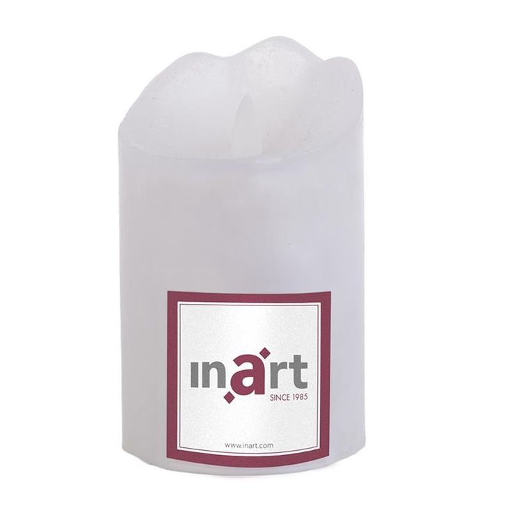 Pillar Paraffin Candle With Led 8x13 cm - Candles - Aromatics - DECORATIONS - inart