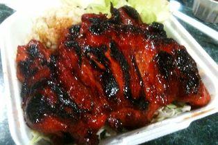 Char Siu Chicken - ¼ c Each hoisin, catsup, honey, 1 Tbs dry sherry, 1 tsp red food coloring, 2 tsp soy, ½ tsp Each garlic powder, ground ginger