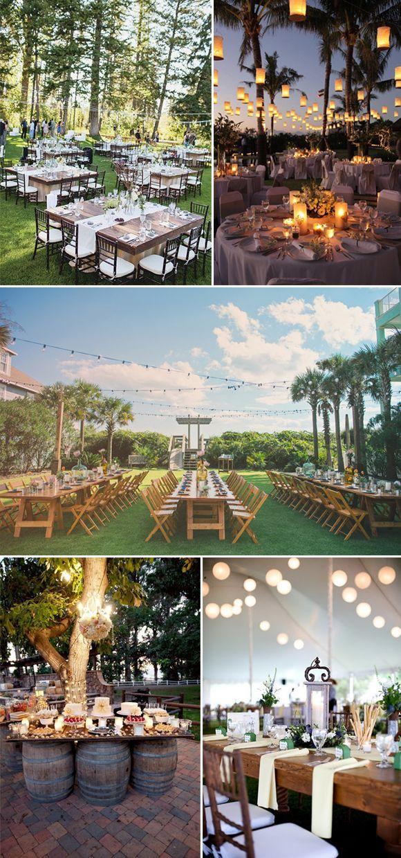 Hola a tod@s, Hoy os queremos proponer ideas para las bodas que se celebran al aire libre. No solo la ceremonia, la cual cada vez es más común en las bodas civiles, sino también para el banquete o inc