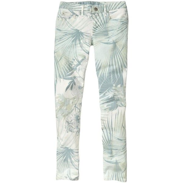 Gap 1969 Tropical Always Skinny Skimmer Jeans - mint ($39) ❤ liked on Polyvore featuring jeans, pants, bottoms, petite skinny jeans, slim skinny jeans, low rise jeans, mint green skinny jeans and gap jeans