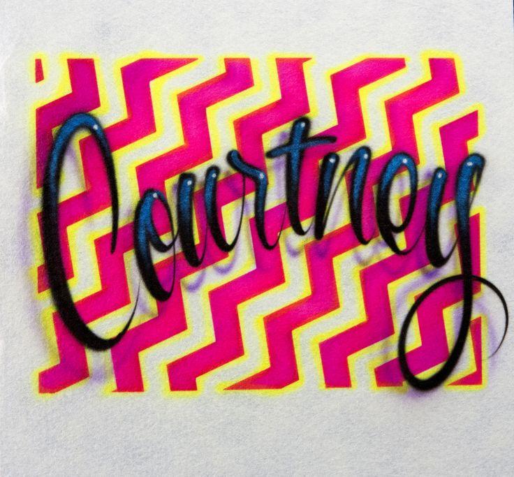 69 best airbrush fun images on pinterest airbrush shirts airbrush hot selling chevron name design by leading t shirt airbrush pro gary worthington www solutioingenieria Gallery