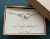 Silver Bow Bracelet Bridesmaid Gifts Tie the by vintagestampjewels