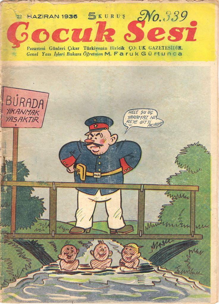 Turkey - Cocuk Sesi (Turkish). A comic book from 1936 with a half-page Mickey story inside.