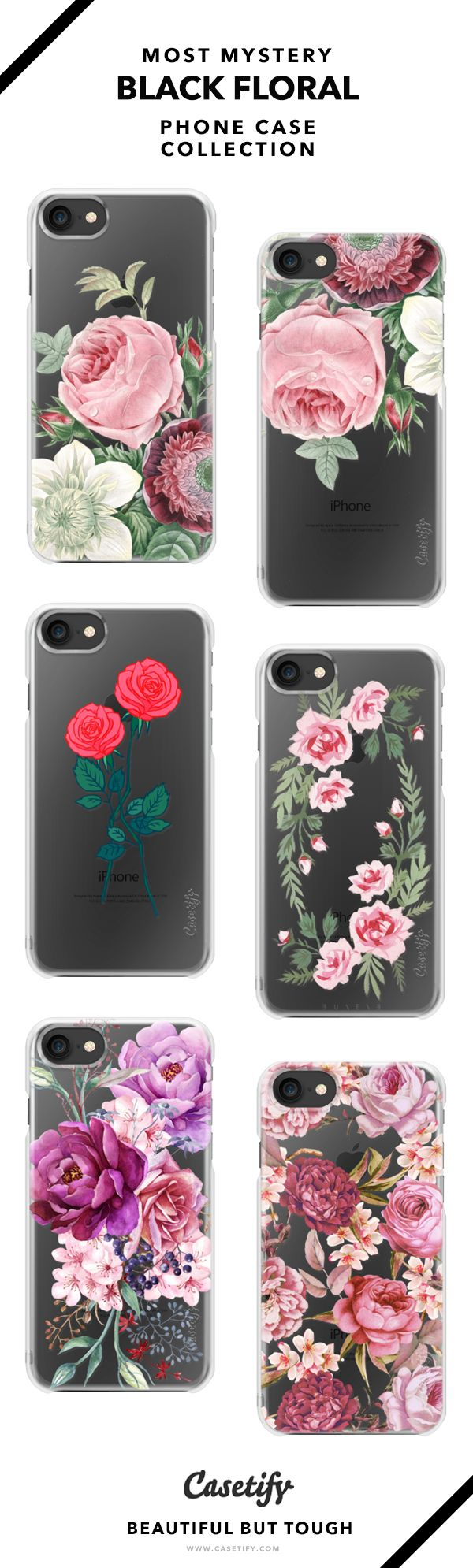 Don't Let Anyone Dim Your Light | Dark Floral Phone Case Collection - iPhone 6/6s/7/7+ AND MORE! Shop them here ☝️☝️☝️ BEAUTIFUL BUT TOUGH ✨ - flower, vintage, black, love, girl, bouquet, floral