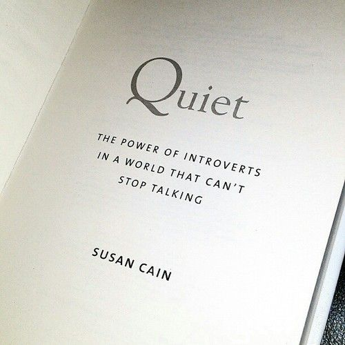 "Just finished this book... Such an appeasing new perspective on introversion for a society that too often condemns being quiet. Really clears up a lot of misconceptions and myths of introversion vs. ""shy"" and ""antisocial""."
