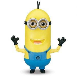 Despicable Me 2 Minion Tim Singing Action Figure. MINIONS. MINIONS TOYS. THIS IS THE BEST DAY OF MY LIFE. Press Tim's chest to hear him talk with funny expressions! Quickly but gently move his head left and right to activate his Singing Mode! Sings 1 song, and says over 25 Minion phrases.