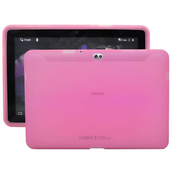 Soft Shell Transparent (Lys Pink) Samsung Galaxy Tab 10.1 P7500 Cover