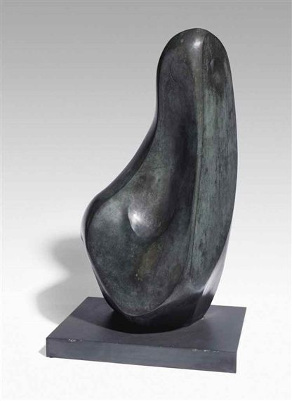 Barbara Hepworth, Coré conceived 1955-1956, cast 1960 Height: 29.25 in (74.3 cm) bronze with a grey/green patina