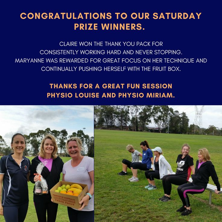 Congratulations to our Saturday prize winners. Claire won the thank you pack for consistently working hard and never stopping. Maryanne was rewarded for great focus on her technique and continually pushing herself with the fruit box. Thanks for a great fun session Physio Louise and Physio Miriam despite the weather being a little damp underfoot! #coregymball #getfitforsummer #awesomecorephysioteam