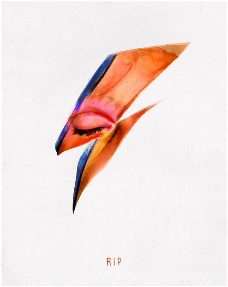 Von's illustrations is based on the lightning bolt from d David Bowie's  Aladdin Sane album cover