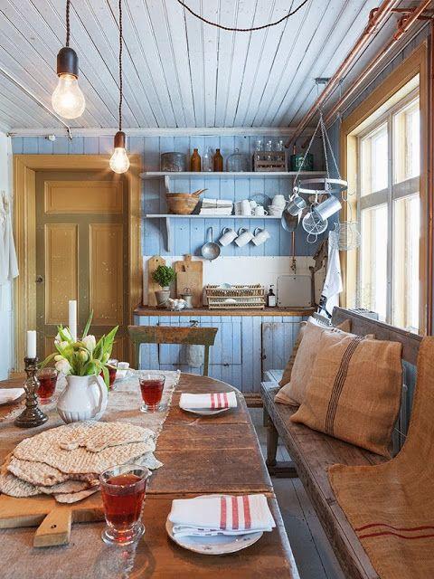 gammeldags kök