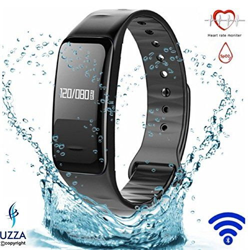 Fitness Tracker【Blood Pressure Measure and Heart Rate Monitor】Bluetooth with Heart Rate Pulse Monitor, Blood Pressure Measure, Calorie Counter, Sleep Monitor, Drinking Water Reminder, Sport Pedometer Activity Tracker, IP67 Waterproof, Smart Wristband Brac